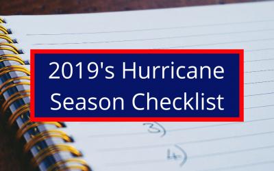 2019's Hurricane Season Checklist