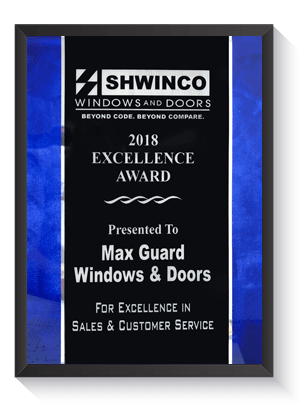 2018 Shwinco Windows & Doors Excellence Award