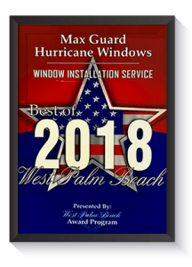 Window Installation Service 2018 Award